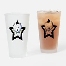 Westie Star Drinking Glass