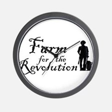 Farm for the Revolution Wall Clock