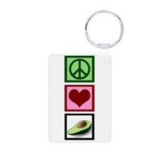 Peace Love Avocado Keychains
