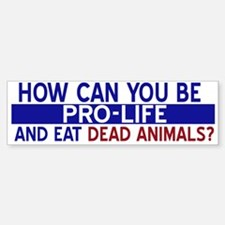 How can you be pro life...Bumper Bumper Bumper Sticker