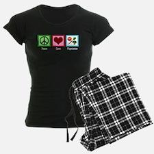 Peace Love Vegetarian Pajamas