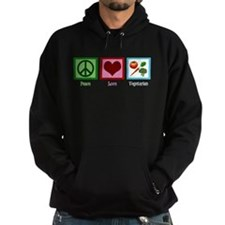 Peace Love Vegetarian Hoodie