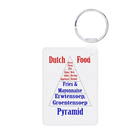 Dutch Food Pyramid Aluminum Photo Keychain