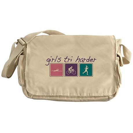 Girls Tri Harder Messenger Bag