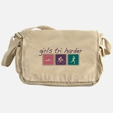 Girls Tri Harder Messenger Bag