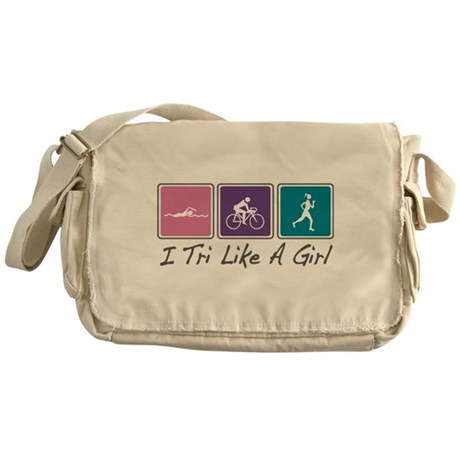 Tri Like A Girl Triathlete Messenger Bag