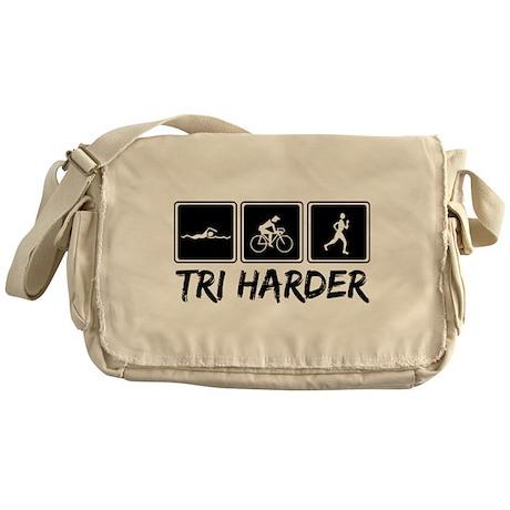 Tri Harder (Thiathlon) Messenger Bag