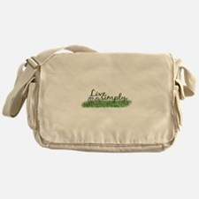 Live Simply (Flowers) Messenger Bag