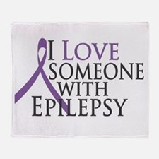 Love Someone with Epilepsy Throw Blanket