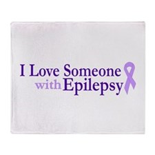 I Love someone with Epilepsy Throw Blanket