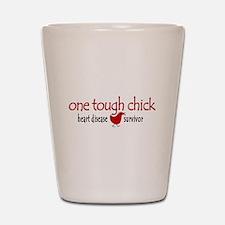One Tough Chick Heart Disease Shot Glass