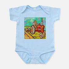 Van Gogh Tractor Infant Bodysuit