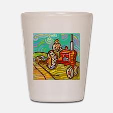 Van Gogh Tractor Shot Glass
