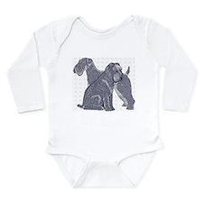 Cute Kerry blue terrier Long Sleeve Infant Bodysuit