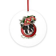 Christmas - Deck the Halls - Bostons Ornament (Rou