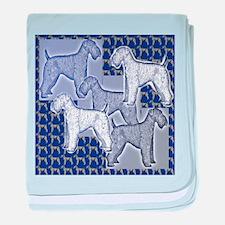 Cute Blue dogs baby blanket