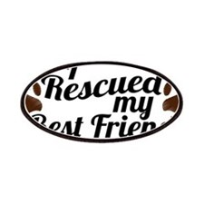 Rescued Dog Best Friend Patches