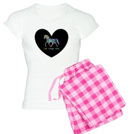Rainbow horse gift Women's Light Pajamas