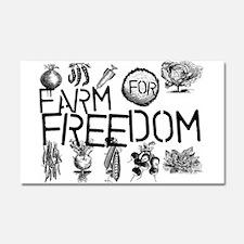 Farm for Freedom Car Magnet 20 x 12