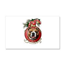 Christmas - Deck the Halls - Bulldogs Car Magnet 2