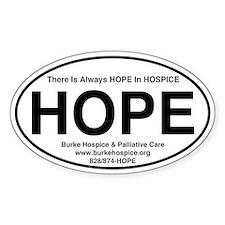 HOPE Sticker for Burke Hospice (Oval)