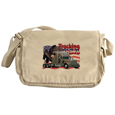 Trucking USA Messenger Bag