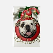 Christmas - Deck the Halls - Bulldogs Rectangle Ma