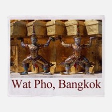 Wat Pho Figures Throw Blanket