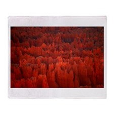 Bryce Canyon Flames Throw Blanket