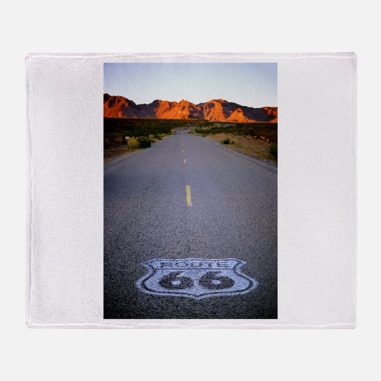Route 66 Shield Throw Blanket