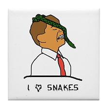 Cool Snake eyes Tile Coaster