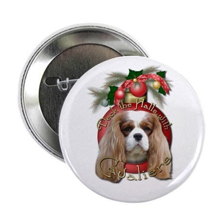 """Christmas - Deck the Halls - Cavaliers 2.25"""" Butto"""