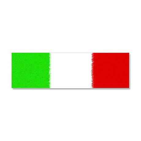 Italian Flag Car Magnet 10 x 3