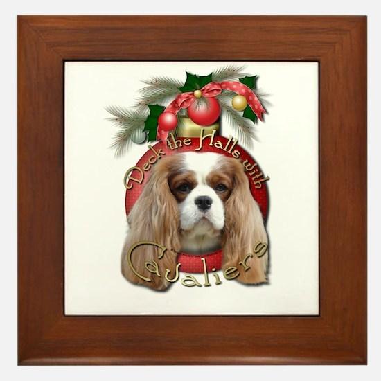 Christmas - Deck the Halls - Cavaliers Framed Tile