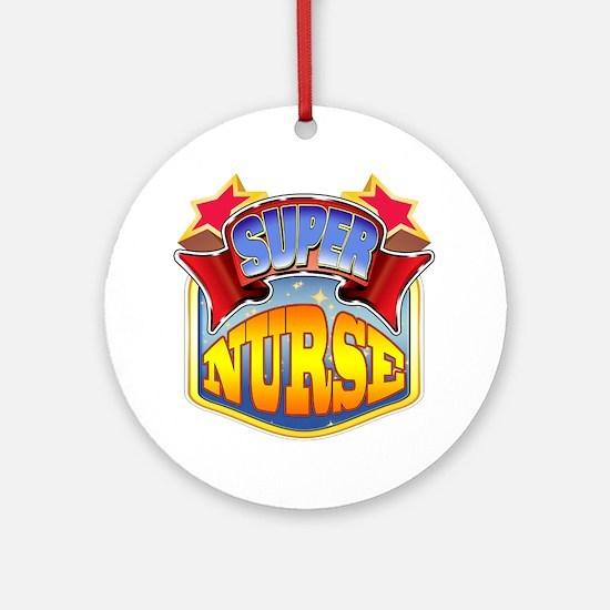 Super Nurse Ornament (Round)