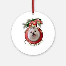 Christmas - Deck the Halls - Malteses Ornament (Ro