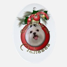 Christmas - Deck the Halls - Malteses Ornament (Ov