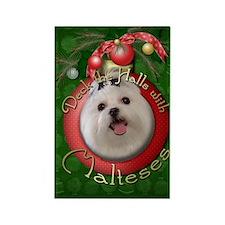 Christmas - Deck the Halls - Malteses Rectangle Ma