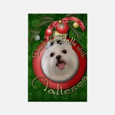 Christmas - Deck the Halls - Malteses Rectangle Ma
