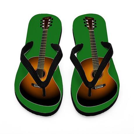 Acoustic Guitar Flip Flops (green)
