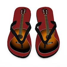 Acoustic Guitar Flip Flops (red)