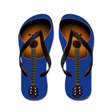 Acoustic Guitar Flip Flops (blue)