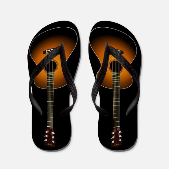 Acoustic Guitar Flip Flops (black)