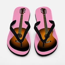Acoustic Guitar Flip Flops (pink)