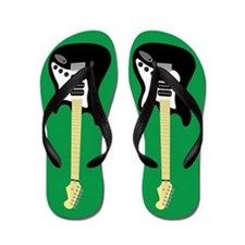 Electric Guitar Flip Flops (green)