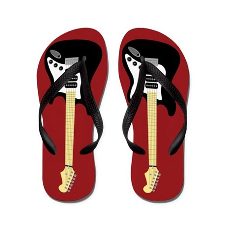 Electric Guitar Flip Flops (red)