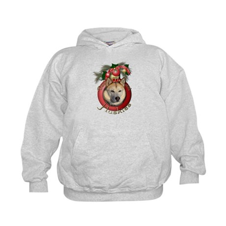 Christmas - Deck the Halls - Huskies Kids Hoodie