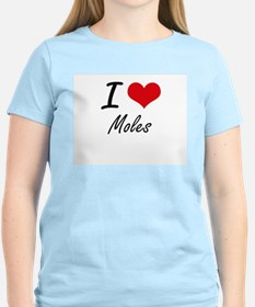 I love Moles Artistic Design T-Shirt