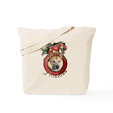 Christmas - Deck the Halls - Huskies Tote Bag
