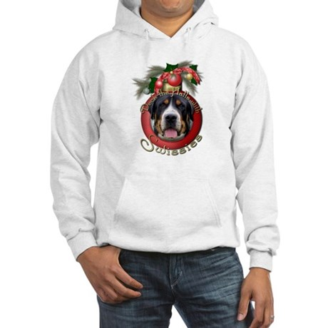 Christmas - Deck the Halls - Swissies Hooded Sweat
